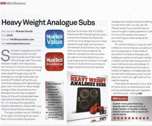 HEAVYWEIGHT ANALOGUE SUBS REVIEW MUSIC TECH MAGAZINE